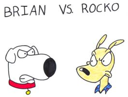 Brian vs. Rocko by BrianGriffinFan