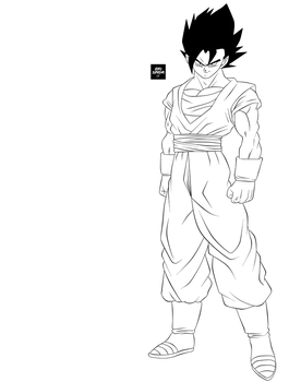Lineart - Vegetto by GokuSupremo15