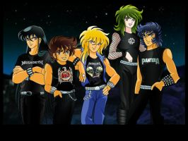 Saint Seiya Rocks by hiddenmuse