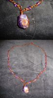 Copper and Purple amethyst Necklace - Commission by TDGG