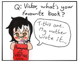 Ask Victor: Favourite book? by PuddingValkyrie