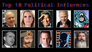 Top 10 Political Influences by JamesE82