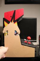 Space Invaders iCade in Progress by Joker-laugh