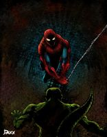 Spidey Vs Lizard by daxxbondoc