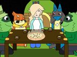 Having a Pizza Party by PokeDramaFriends98