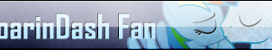 Fan Button: SoarinDash Fan by SilverRomance