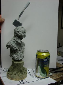 zombie bust pic by MosesJaen