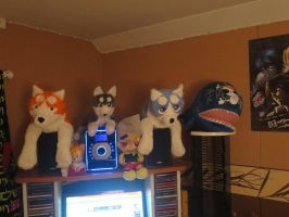 my plush toys by Tigersolder002