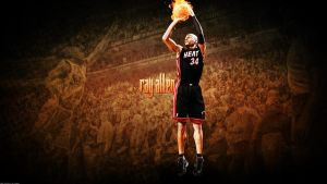 Ray Allen Heat Wallpaper by rhurst