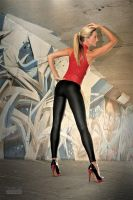 Danca Leggings Red Top 02 by malkiss