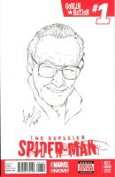 Stan Lee Head shot by Elias-Chatzoudis