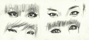 2NE1's eyes by topistops