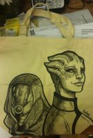 Liara and Tali tote by Armadria