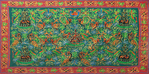 Indian Embroidered Cloth 1 by LilipilySpirit