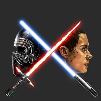 Kylo Rey The Force Awakens by osx-mkx