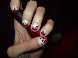 Blood Nails by ffishy21