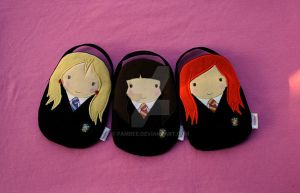 Luna, Ginny and Hermione by fambee