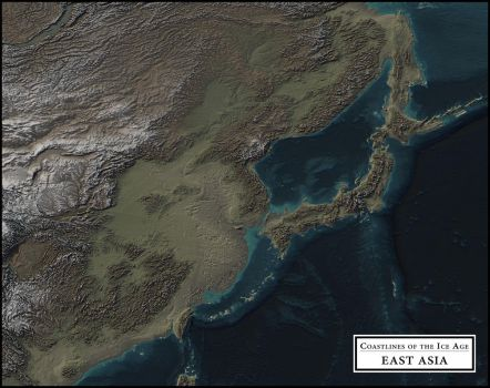 Coastlines of the Ice Age - East Asia by atlas-v7x