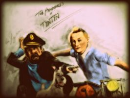 The Adventures of Tintin 2011 by geekyglassesartist