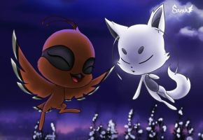 Kwami Aris and Froll Miraculous ladybug by Dragonauroralight