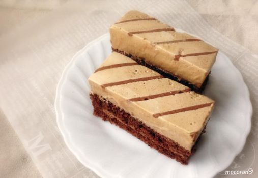 Coffee Mousse Cake by macaron9