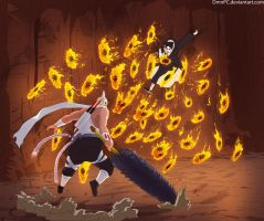 naruto549:Itachi vs KillerBee by DmnPC