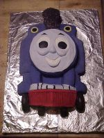 thomas the tank engine cake 1 by toastles