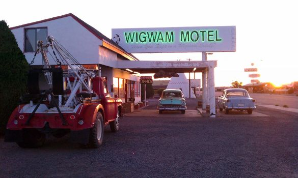 Wigwam Motel at Sunset by TechnoPoet