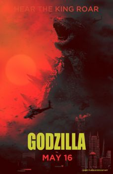 Gdozilla alternative fan poster by crqsf