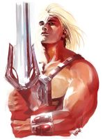 MOTU Portrait Sketches: HE-MAN by Vandrell