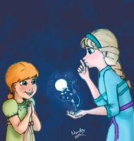 Little Elsa and Anna - Colored by Nanda-MC95