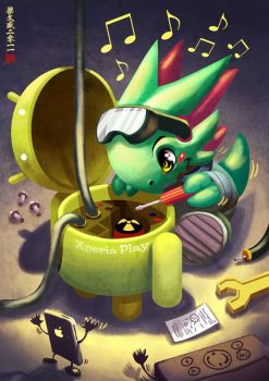 Android Apple, and Wacom by Wenart