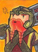SketchCard: LOTR Gimli by Axigan