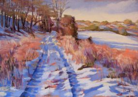 snow in the valley (soft pastel) by PatrickHENRY