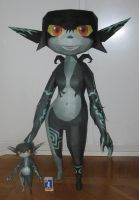 assembly: life size Midna with a miniMidna by minidelirium