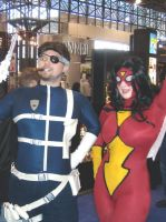 NYCC: Nick Fury + Spider Woman by tony566
