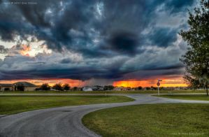 Rain Shadows Sunset 2 HDR by eanimusic