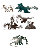 HTTYD doodles by Luce-in-the-sky