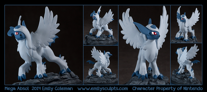 Commission : Mega Absol by emilySculpts