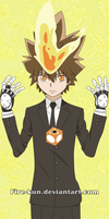 Tsuna Vector by Fire-kun
