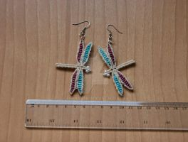 Custom dragonfly earings by enenauta