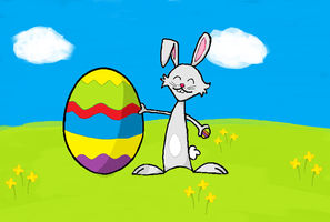 HAPPY EASTER BUNNY by Ernie-e