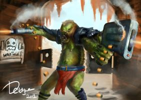 Orc warrior by DClayne