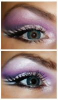 Purple winged makeup tutorial by NatashaSmithPhoto
