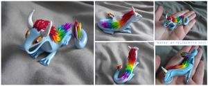 'Rayne' Dragon Sculpture by FelineMyth