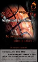Basketball three on three flyer by thedrummerboii