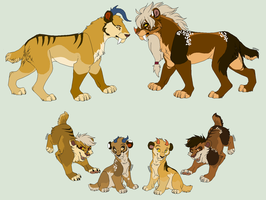 Sabre Family by werewolfluva