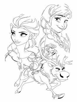 Anna, Elsa, Kristoff and Sven by Spartandragon12