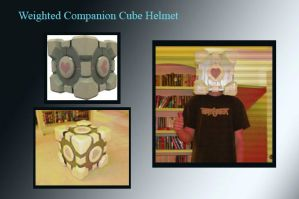 Weighted Companion Cube Mask by ReaperMonkey