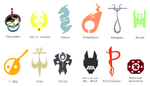 Miscellaneous Dark Iron Insignia by blinkpen